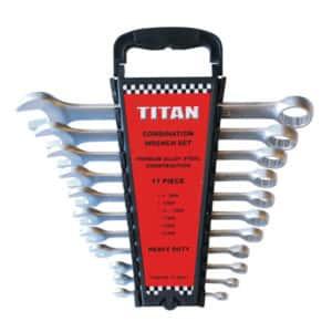 TITAN 11PC COMBINATION SPANNER SET