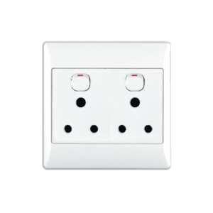 ACDC DOUBLE SWITCHED SOCKET