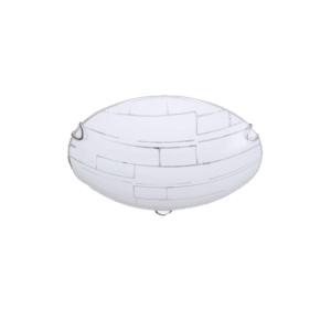 BRIGHT STAR 34W LED PATTERNED FROSTED GLASS
