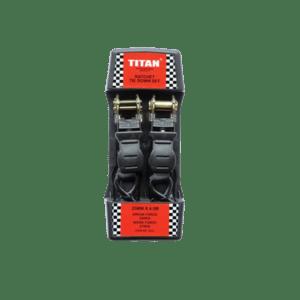 TITAN 2PC RATCHET  TIE DOWN SET 25MM