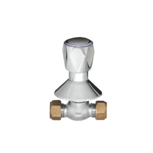 SEAGA SERIES 1000 CHROME PLATED BRASS UNDER TILE STOP TAP CXC 15MM