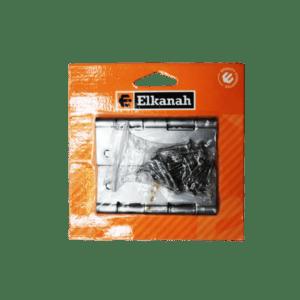 ELKANAH HINGE BUTT STL.100MM+SCREWS