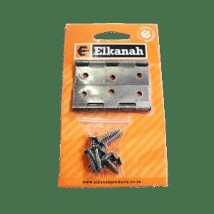 ELKANAH HINGE BUTT STL.65MM+SCREWS