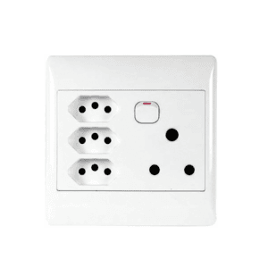ACDC Single Switched Plug with 3 x 3-Pin Euro Sockets