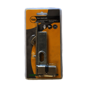 YALE SECURITY GATE SLAM LOCK WITH CYL.