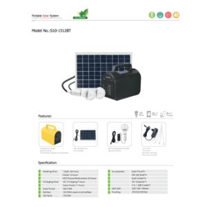 ELOTUS SOLAR KIT 2X5W LAMP/USB/M-PLAYER