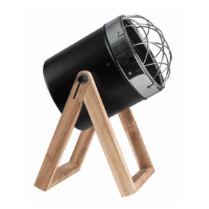 DESK LAMP BLACK METAL AND WOOD