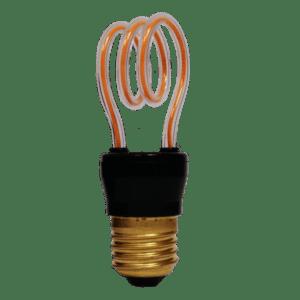 BULB 4W LED ART LINE FILAMENT SPIRAL WW