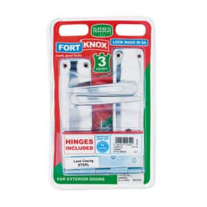 Fort Knox 3-Lever Mortice Lockset with Hinges