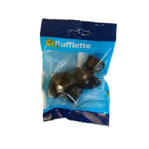 KIRTECH CURTAIN FINIAL MATT BLACK PLASTIC RONELLE 19MM X2