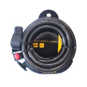 BBL BICYCLE LOCK CABLE COMBINATION 1800MM WITH BRACKET