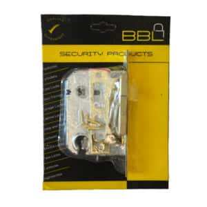 BBL MORTICE DOUBLE CYLINDER LOCK BODY ONLY BRASS PLATED