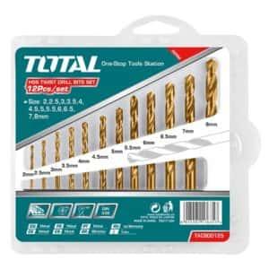 TOTAL DRILL BIT SET HSS TWIST 2-8MM 12PC