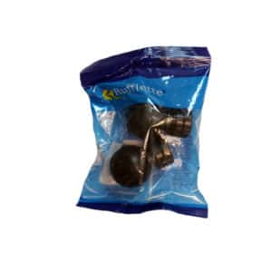 KIRTECH CURTAIN FINIAL MATT BLACK PLASTIC BALL 25MM