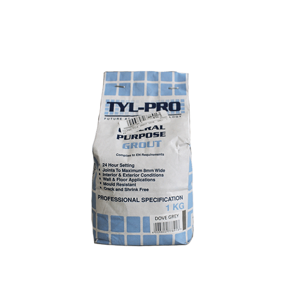 TYLPRO TILE GROUT DOVE GREY 1KG