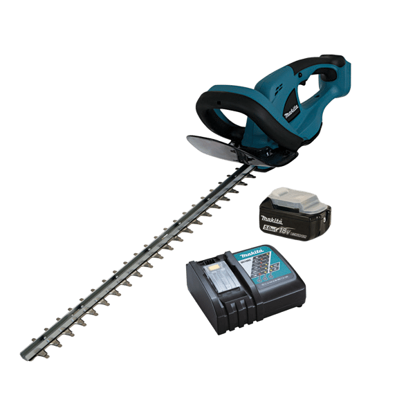 MAKITA CORDLESS 18V LI-ION HEDGE TRIMMER WITH 3AH BATTERY AND CHARGER