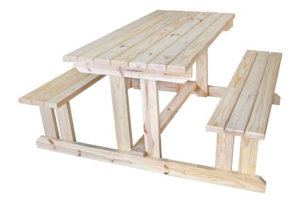 5924-SOLID-PINE-PICNIC-TABLE-WITH-BENCHES