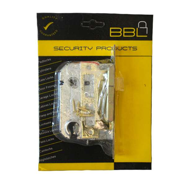 313093-MORTICE-LOCK-DOUBLE-CYLINDER-BODY-ONLY-BRASS-PLATED