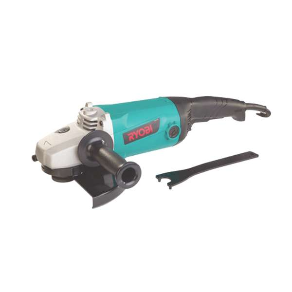 77201-Ryobi-Industrial-Angle Grinder 230mm-2200W-with-Mesh-Filters-&-5-Year-Warranty
