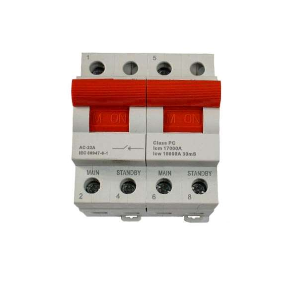77873-DINRAIL-CHANGE-OVER-SWITCH-63AMP-2-POLE