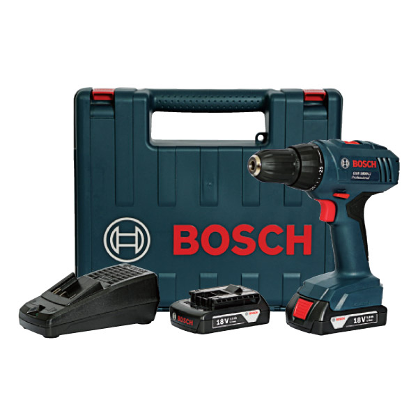 bosch cordless li ion drill kit 18v brights online store. Black Bedroom Furniture Sets. Home Design Ideas