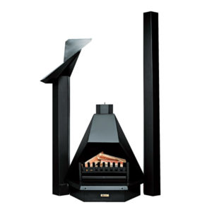 MEGAMASTER  FIREPLACE 700MM PYRAMID COMPLETE