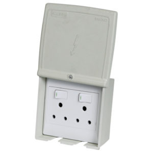 ACDC WEATHERPROOF DOUBLE PLUG OUTLET