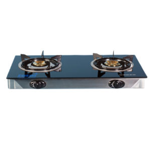 GAS STOVE 2 PLATE GLASS TOP