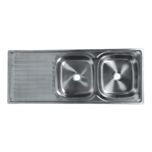 CAM DOUBLE BOWL DROP-IN SINK 1200MM