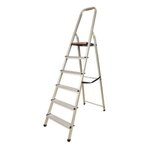 6- STEP ALUMINIUM LADDER  WITH HANDRAIL