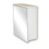 53643_Denver 1-Door Mirror Cabinet with Shelf