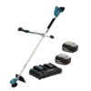 MAKITA CORDLESS 36V LI-ION BRUSHLESS TRIMMER WITH 2 X 5AH BATTERIES AND DUAL CHARGER