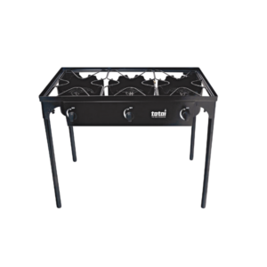Totai 3-pot Gas Boiling Table & Stand with Windshield