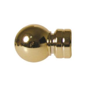 CURTAIN FINIAL BRASS PLATED PLASTIC BALL 16MM X 2