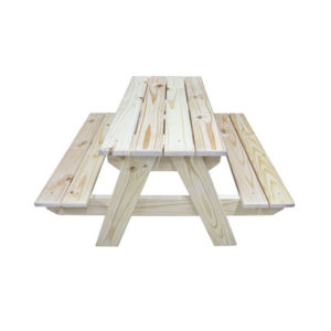 SOLID PINE PICNIC TABLE WITH BENCHES KIDDIES