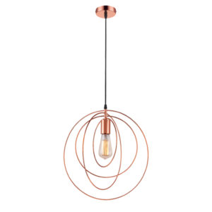 BRIGHT STAR 1-LIGHT COPPER METAL PENDANT