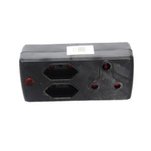 ADAPTOR 1 X 3PIN 2 X IEC BLACK