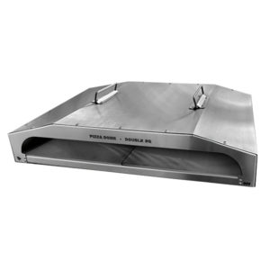 TECHNI PUNCH PIZZA DOME DOUBLE SQUARE STAINLESS STEEL