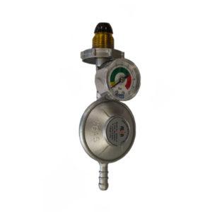ALVA BULLNOSE GAS REGULATOR WITH PRESSURE GAUGE