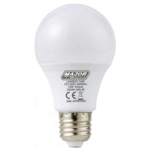 BULB 12W ES WARM WHITE MAJOR TECH