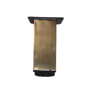 LEG COUCH SQUARE ADJUSTABLE 100MM X 40MM SATIN NICKEL