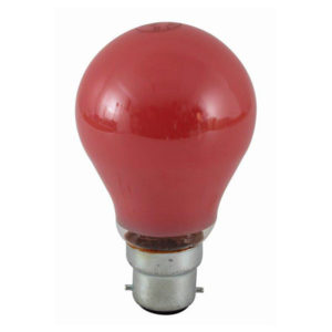 BULB COLOURED BC 40W RED