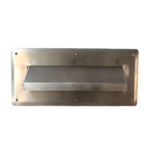 LETTER PLATE HOODED STAINLESS STEEL