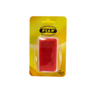 REFLECTOR STICK-ON RED (2)