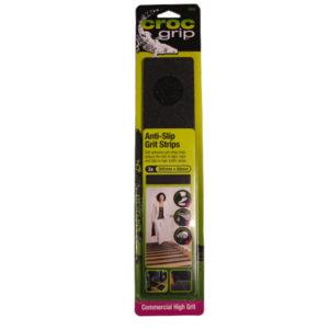 CROC GRIP ANTI-SLIP GRIT STRIP BLACK 300MM X 65MM X 3PC